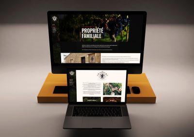 Site internet Château Le Sens